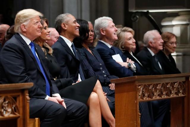 Malaise aux funérailles de George H. W. Bush