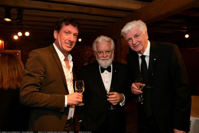 Serge Chapleau, Yves Boisvert de La Presse et... (Photo fournie par le CUSM)