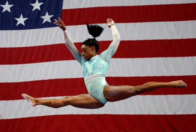 La star de la gymnastique aux États-Unis, Simone... (PHOTO REUTERS)
