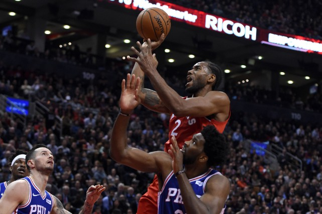 Le joueur des Raptors Kawhi Leonard (2) fait... (Photo Dan Hamilton, USA TODAY Sports)