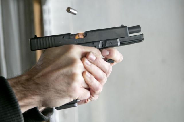 Un pistolet.... (Photo David Boily, archives La Presse)