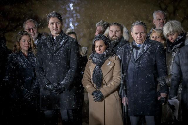 Le premier ministre du Canada, Justin Trudeau, la... (Photo Olivier Jean, La Presse)