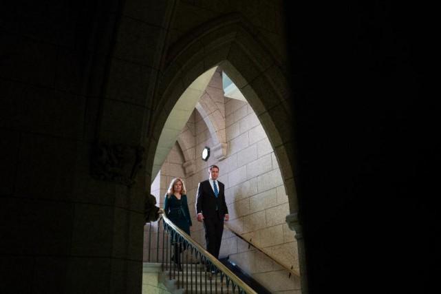Michelle Rempel et Andrew Scheer... (Photo Adrian Wyld, archives La Presse canadienne)