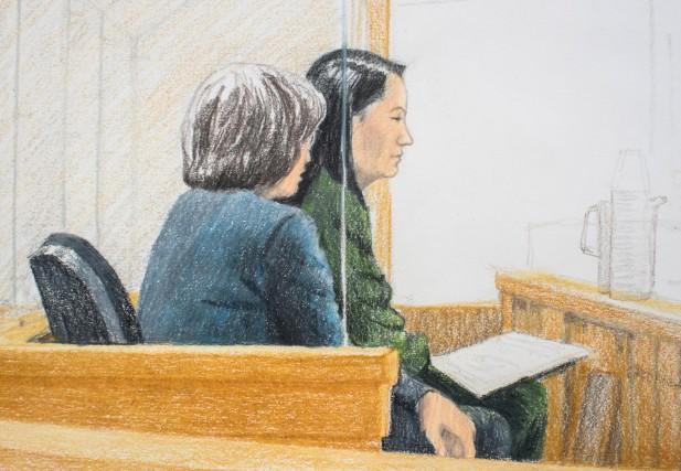 Meng Wanzhou a comparu vendredi devant un juge... (Photo Jane Wolsak, la presse canadienne)