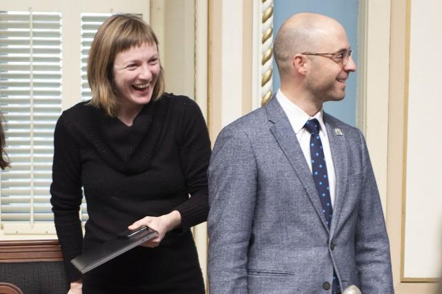 Le députés de Québec solidaire Catherine Dorion et... (Photo Jacques Boissinot, THE CANADIAN PRESS)