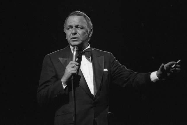 Frank Sinatra au forum de Montréal en 1975.... (Photo archives La Presse)