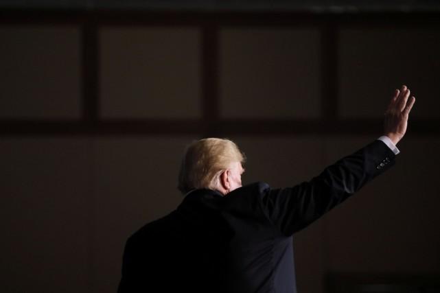 Le président américain Donald Trump... (Photo JONATHAN ERNST, REUTERS)