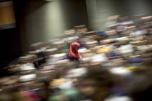 Réunis en conseil national à Montréal, les militants... (Photo Olivier Jean, La Presse)