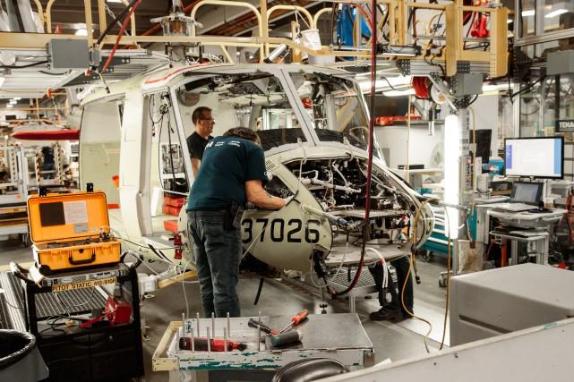 En 2017, l'industrie aéronautique s'est classée première au... (Photo Hugo-Sebastien AUBERT, La Presse)