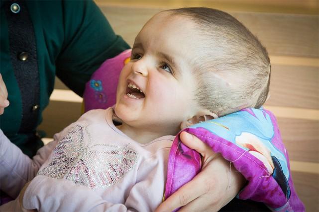 La petite Béatrice était atteinte d'une forme extrême... (Photo Martin Tremblay, La Presse)
