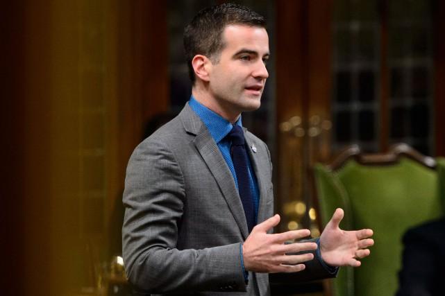 MatthewDubé, député néo-démocrate de Beloeil-Chambly.... (Photo Sean Kilpatrick, archives PC)