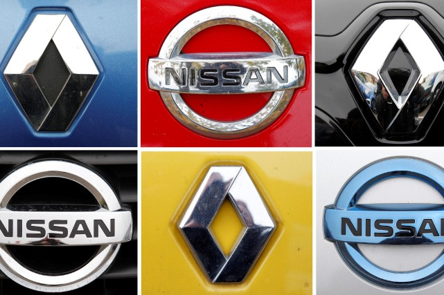 Une combinaison des logos de Nissan et de... (Photo Vincent Kessler, archives REUTERS)