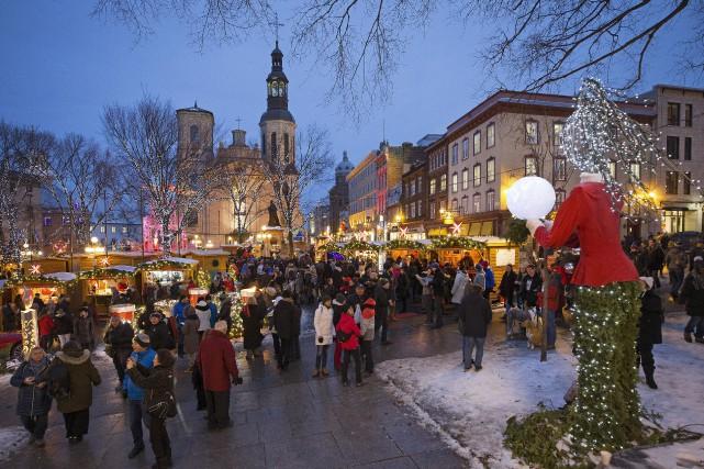 Le Marché de Noël allemand de Québec... (Photo Robert Skinner, archives La Presse)