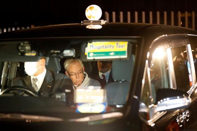 Greg Kelly, photographié dans une voiture après sa... (Photo KIM KYUNG-HOON, REUTERS)