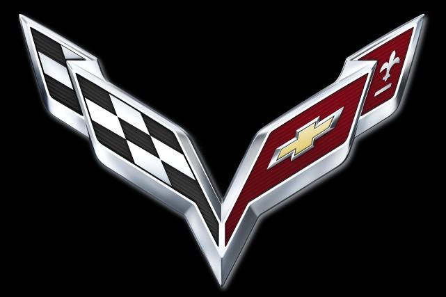 Le logo de la Chevrolet Corvette... (PHOTO FOURNIE PAR LE CONSTRUCTEUR)