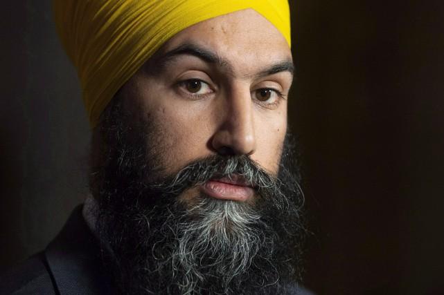 Le chef du Nouveau Parti démocratique, Jagmeet Singh.... (Photo AdrianWyld, La Presse canadienne)