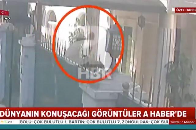 La chaîne de télévision turque A-Haber a publié... (Image tirée de la vidéo postée par @AHaber sur Twitter)