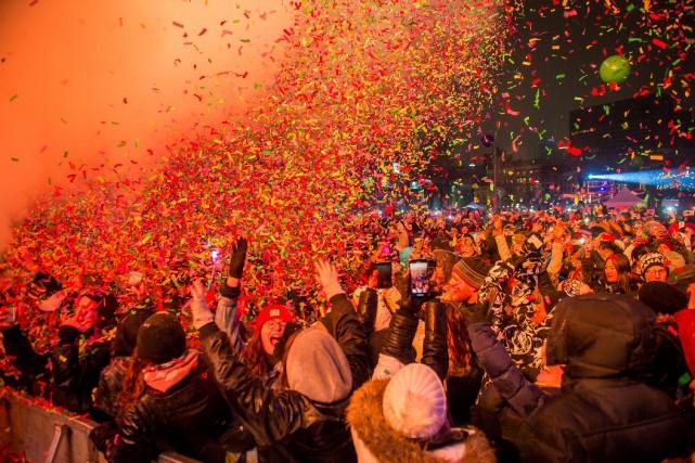 Plus de 175000 personnes pour célébrer le Nouvel An dans le Vieux-Montréal