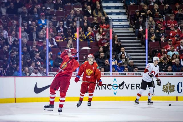 Kirill Slepets a complété un tour du chapeau en troisième période pour... (Photo DARRYL DYCK, PC)