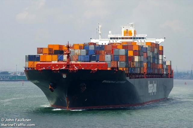Le navire porte-conteneurs Yantian Express... (IMAGE TIRÉE DU SITE MARINETRAFFIC.COM)