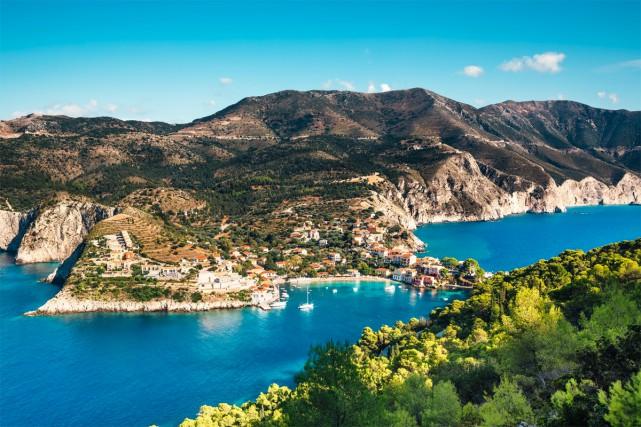 Le village d'Assos dans l'île de Céphalonie... (Photo Getty Images)