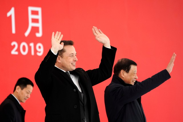 Le PDG de Tesla Elon Musk et le... (photo REUTERS)