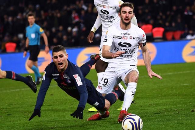 Le PSG a subi la défaite pour la... (PHOTO AFP)