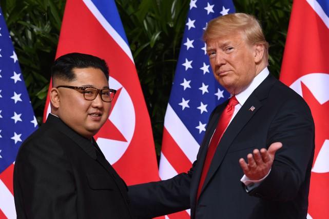 Kim Jong-un et Donald Trump se sont rencontrés... (PHOTO SAUL LOEB, ARCHIVES AGENCE FRANCE-PRESSE)
