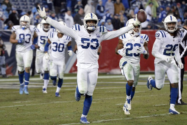 Depuis un mois et demi, les Colts d'Indianapolis... (Photo Mark Zaleski, Associated Press)