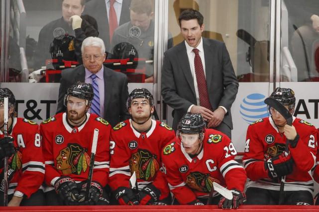 À leurs 15 derniers matchs, les Blackhawks de... (Photo Kamil Krzaczynski, Associated Press)
