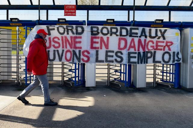 La fermeture de l'usine Ford de Blanquefort, près... (Photo d'archives AFP)