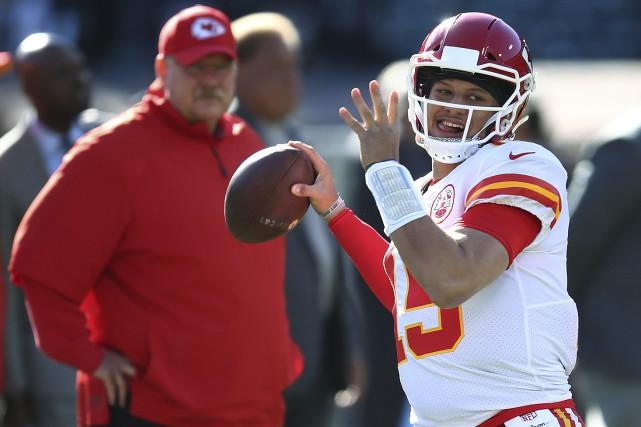 Le quart-arrière des Chiefs de Kansas City, PatrickMahomes... (Photo Ben Margot, AP)