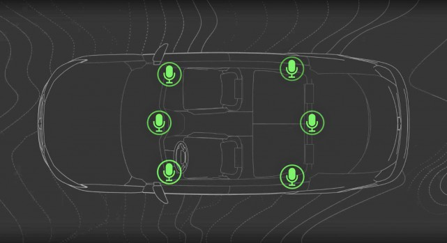 Des microphones dans l'habitacle et des accéléromètres placés... (Image : Bose)