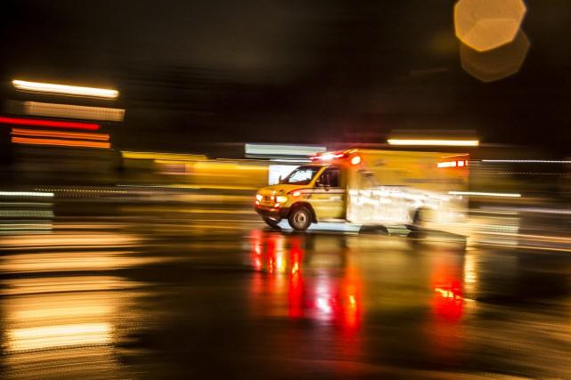 L'une des victimes aurait subi des blessures importantes.... (Photo Olivier Pontbriand, archives La Presse)