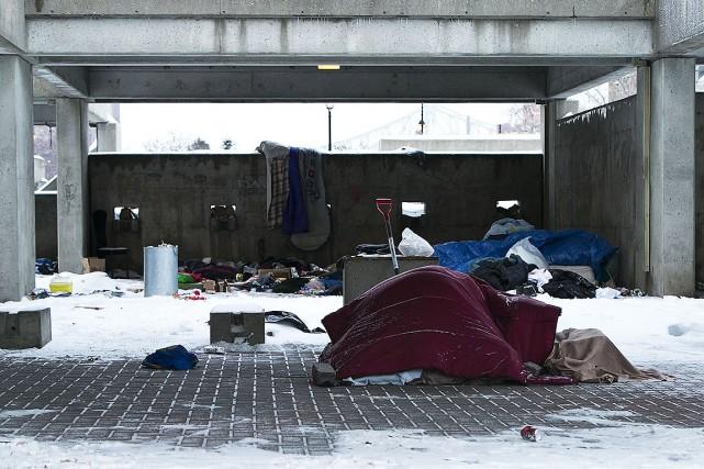 Les refuges pour sans-abri de Montréal ont été pris d'assaut par les... (Photo Hugo-Sébastien AUBERT, archives La Presse)