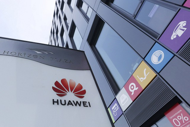 Le bureau de Huawei à Varsovie... (Photo Czarek Sokolowski, Associated Press)