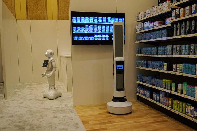 La compagnie japonaise SoftBank Robotics a quant à... (Photo ROBERT LEVER, Agence France-Presse)