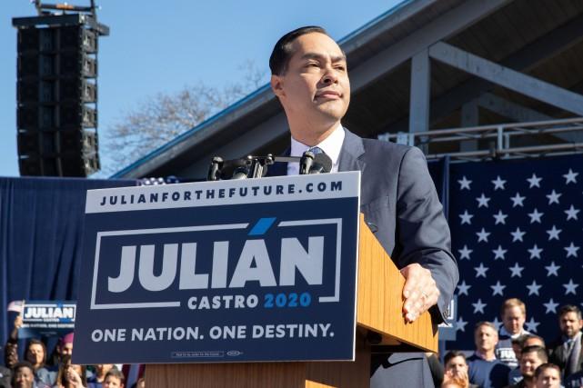 Julian Castro souhaite devenir le premier président hispanique... (Photo SUZANNE CORDEIRO, AFP)