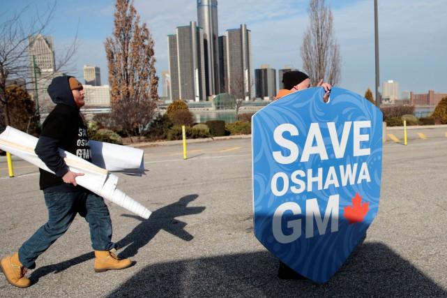 GM a annoncé en décembre la fermeture de... (Photo REBECCA COOK, REUTERS)