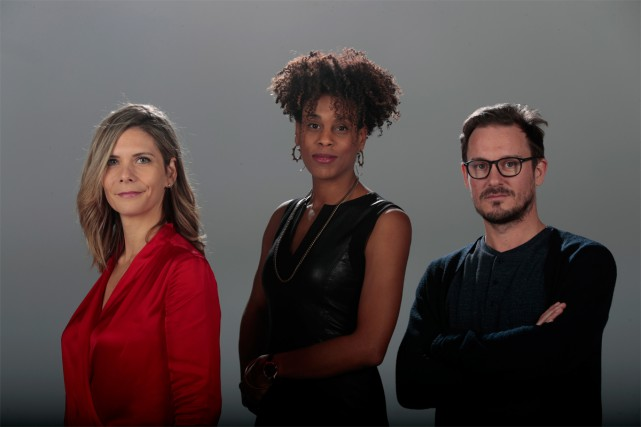 Le trio derrière le documentaire sur la pièce... (Photo Martin Chamberland, La Presse)