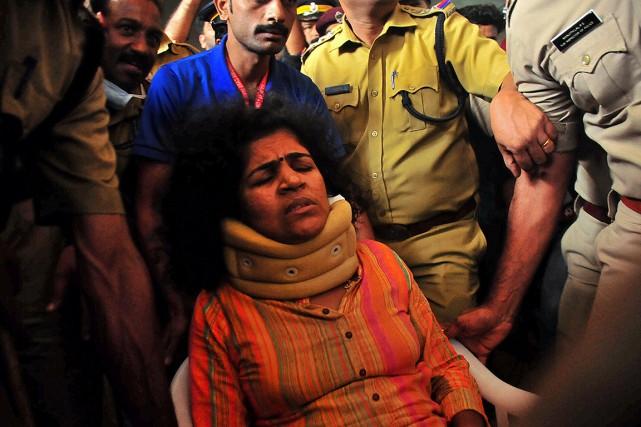 Kanaka Durga, l'une des deux femmes qui sont... (Photo STRINGER, REUTERS)