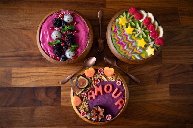 Les bols de smoothie sont une jolie option... (Photo David Boily, La Presse)