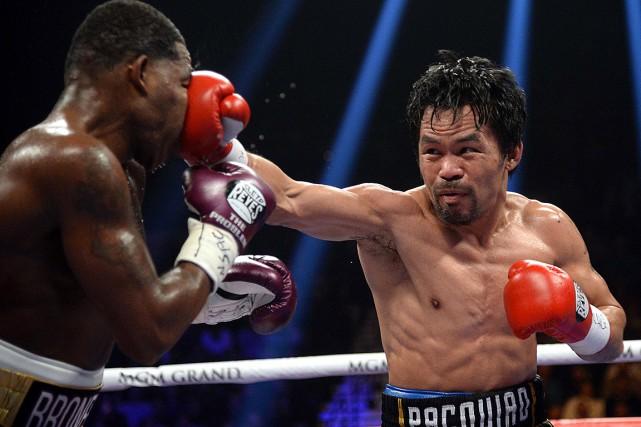 Manny Pacquiao a dominé de bout en bout... (Photo Joe Camporeale, USA TODAY)