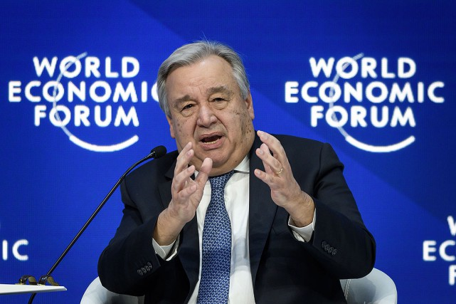 Antonio Guterres... (Photo FABRICE COFFRINI, AFP)