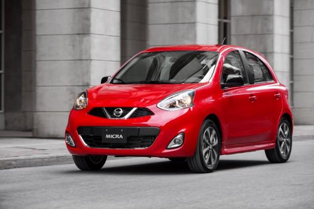 LaNissan Micra, disponible avec vitres à manivelle.... (Photo Nissan)