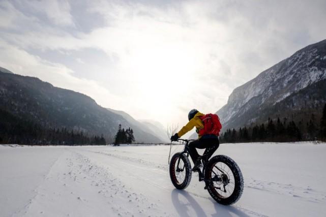 Vélos à pneus surdimensionnés dans le parc des... (Photo Hugo-Sébastien Aubert, La Presse)