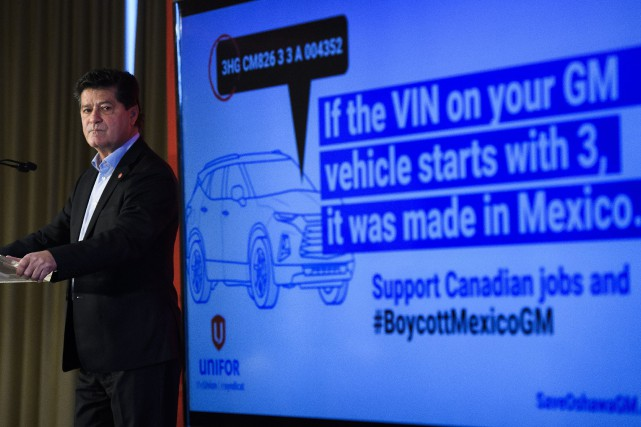 Le président national d'Unifor, Jerry Dias, avait déjà... (Photo Nathan Denette, La Presse canadienne)