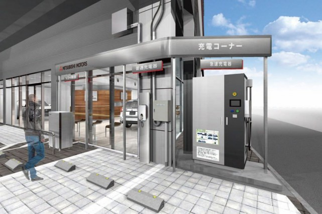 Projet de borne de recharge bidirectionnelle de Mitsubishi... (image Mitsubishi)
