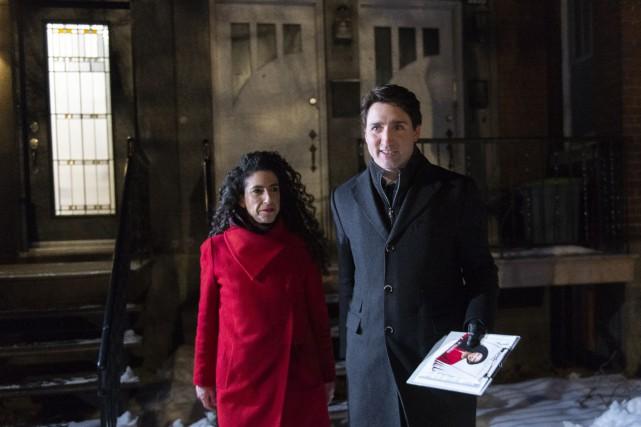 Justin Trudeau fait campagne à Outremont