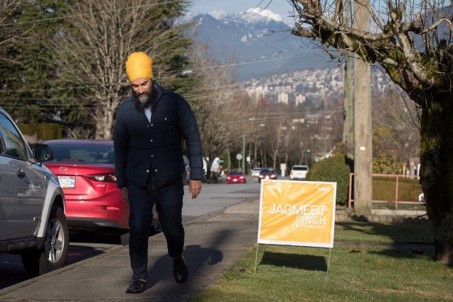 Le chef du NPD Jagmeet Singh de passage... (PHOTO PC)